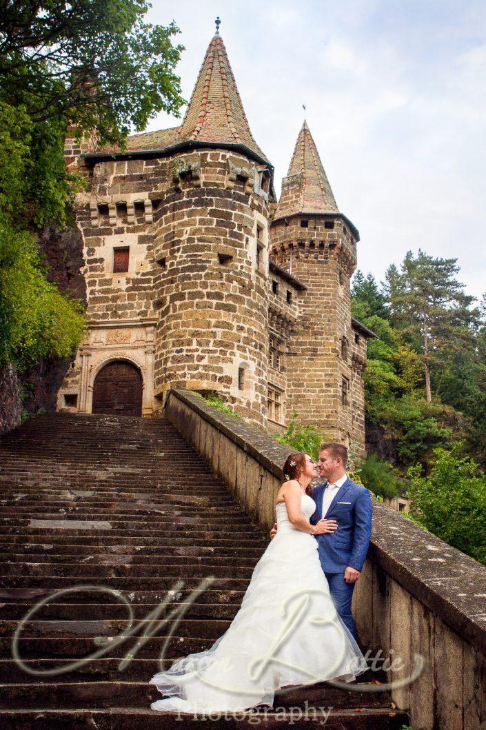 Mariage, mariés, chateau, séance couple, Sainte-Sigolène, Haute-Loire, France