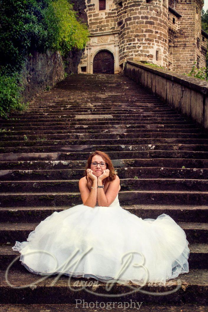 Mariage, mariée, chateau, séance couple, Sainte-Sigolène, Haute-Loire, France
