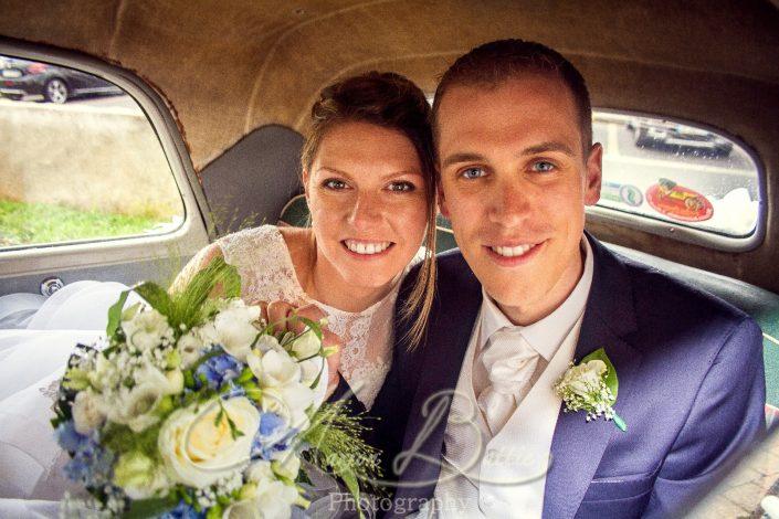 Mariage, mariés, voiture, Grazac, Haute-Loire, Auvergne, France