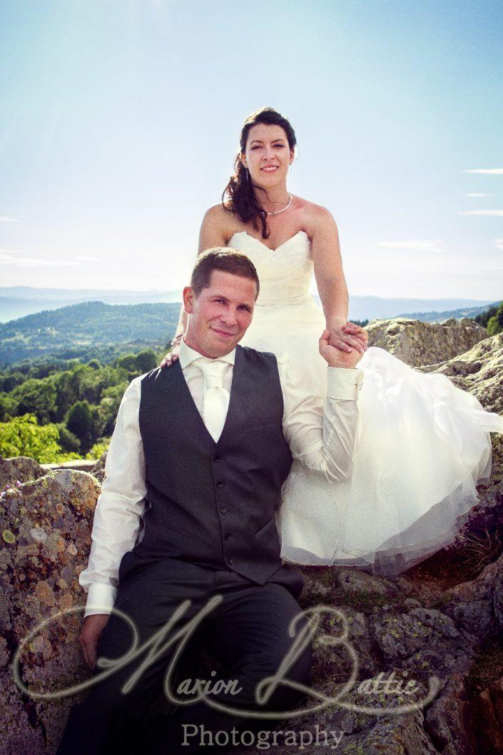 Mariage, mariés, séance couple, Rosières, Haute-Loire, France