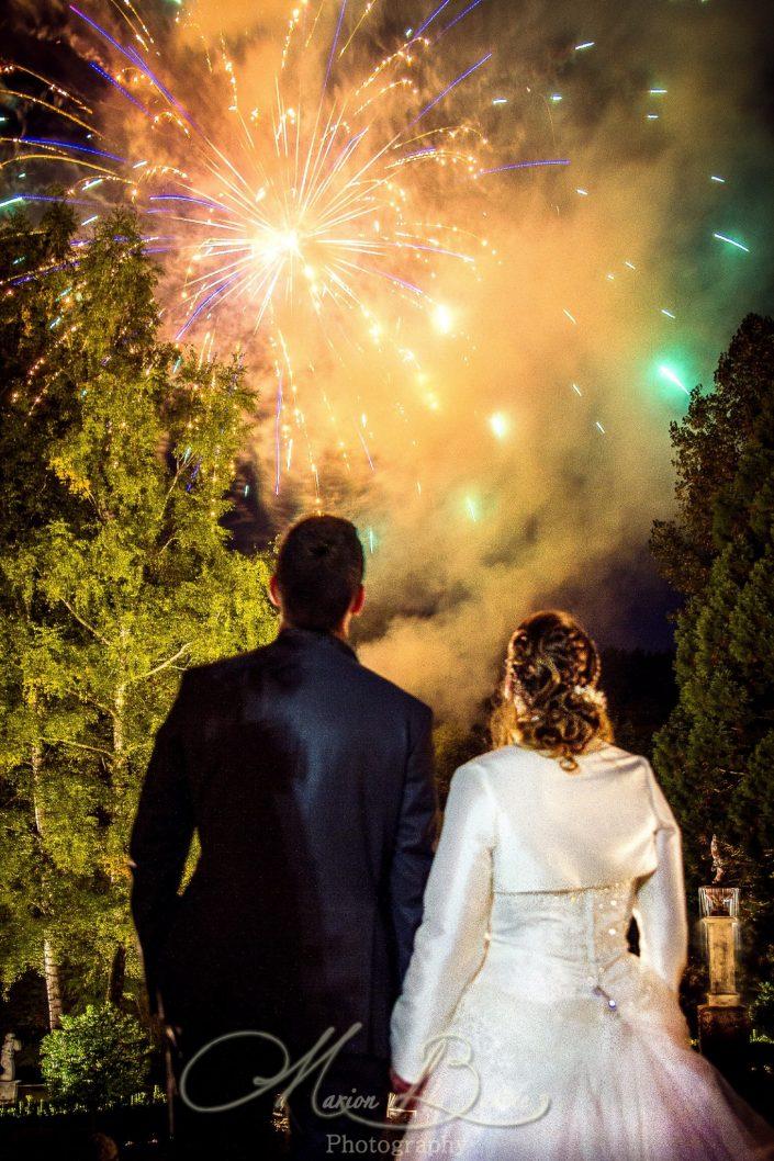 Mariage, chateau, soirée, feu d'artifice, Le Puy-en-Velay, Yssingeaux, Haute-Loire, France