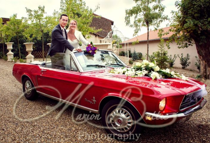Mariage, chateau, voiture, mariés, Le Puy-en-Velay, Yssingeaux, Haute-Loire, France