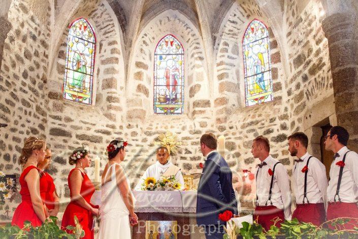 Mariage, église, Freycenet-La-Tour, Haute-Loire, France