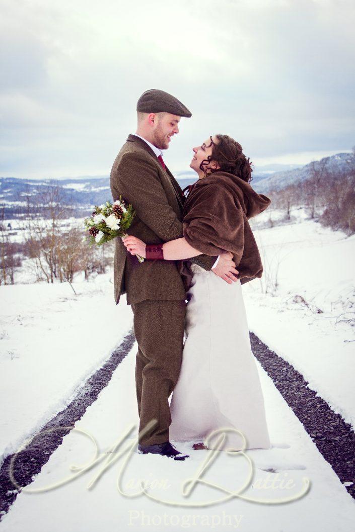 Mariage, séance couple, hiver, Lantriac, Haute-Loire, Auvergne, France
