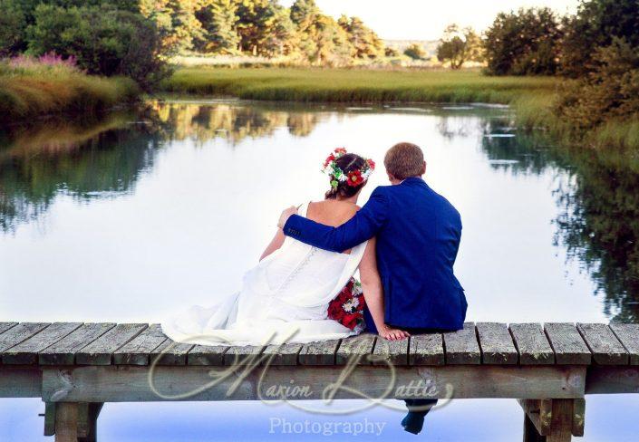 Mariage, couple, étang, Laussonne, Haute-Loire, Auvergne
