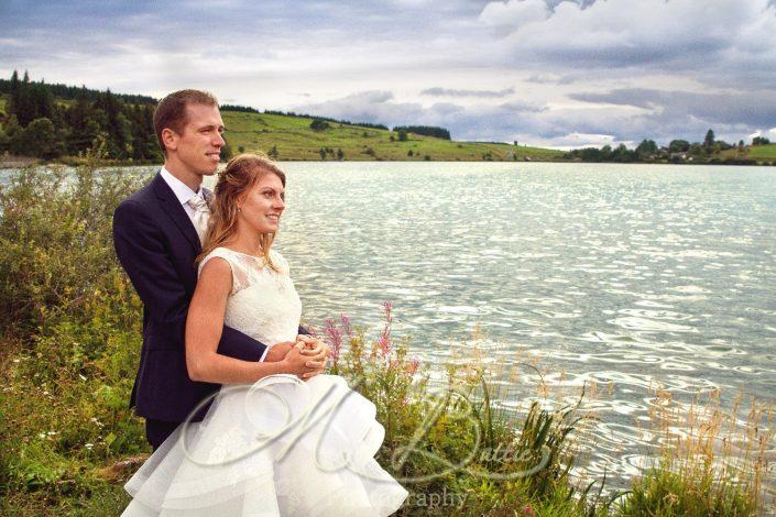 Mariage, couple, lac, nature, Grazac, Haute-Loire, Auvergne