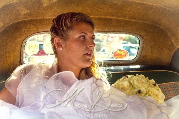 Mariage, mariée, voiture, Grazac, Haute-Loire, Auvergne, France
