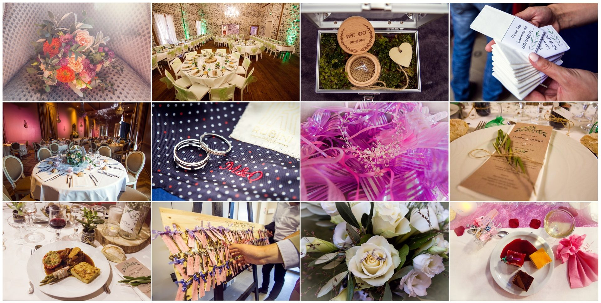les petits détails de mariage, alliances, fleurs, bouquet, décoration, église, soirée, salle de mariage, coiffure, bijoux, reportage de mariage Haute-Loire, Photographe Haute-Loire