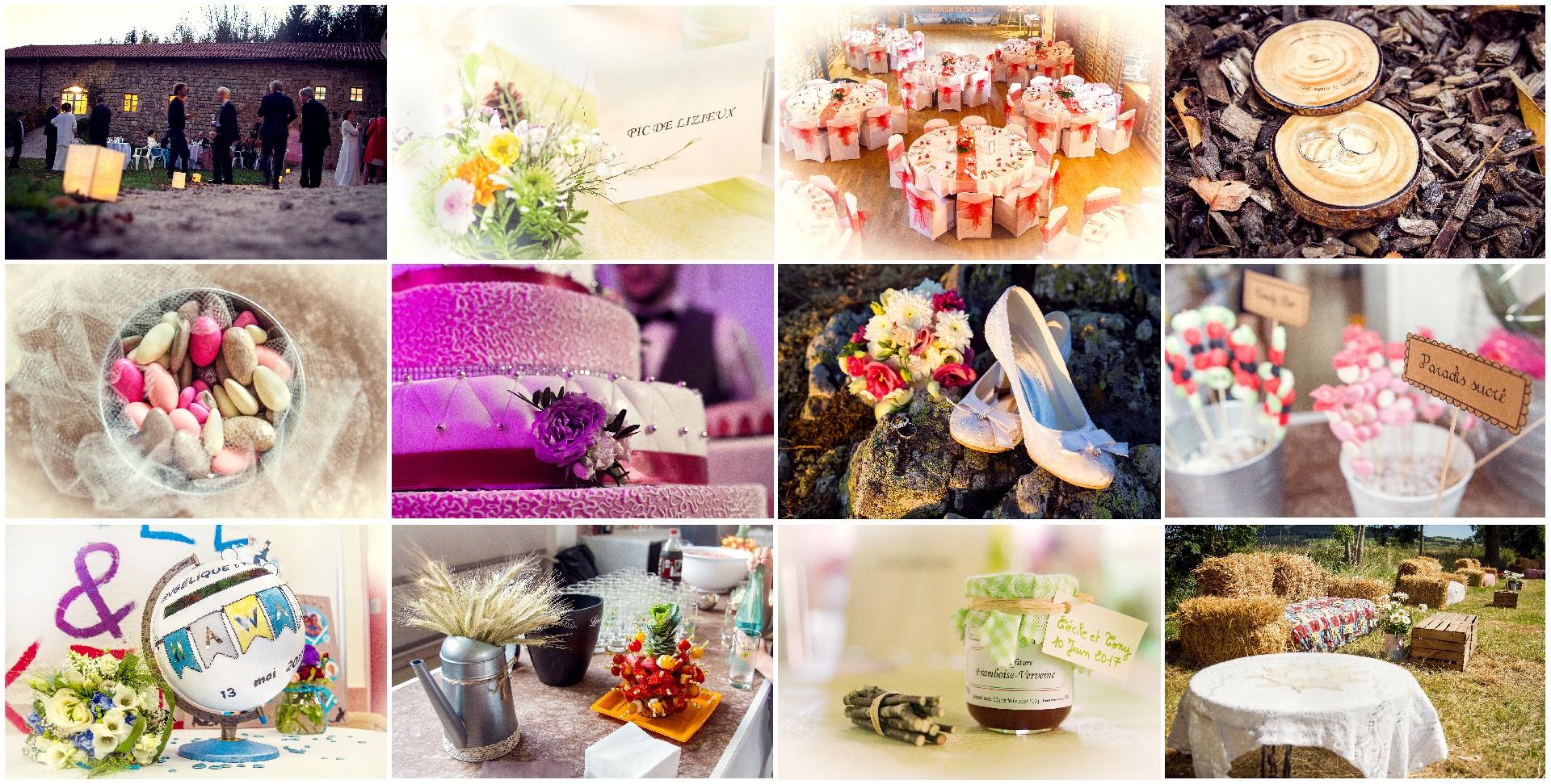 détails, bouquets, église, gâteau, alliances, fleurs, vin d'honneur, décorations, mariages, Haute-Loire, Auvergne