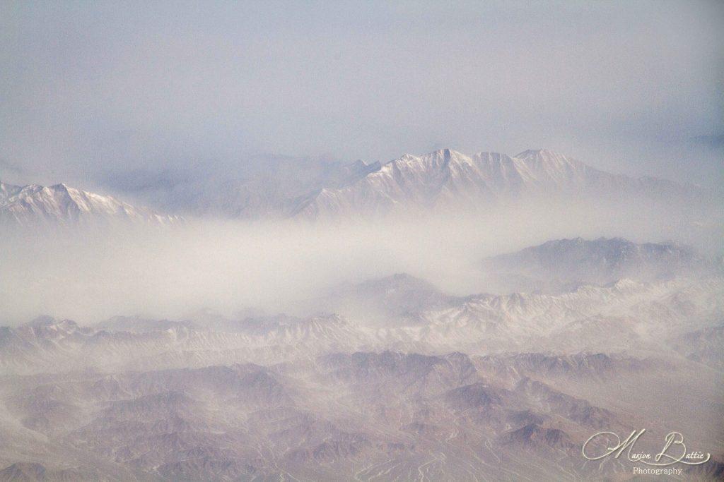montagnes, photos, photos de voyage, photographie, voyages, avion, Chine, Asie