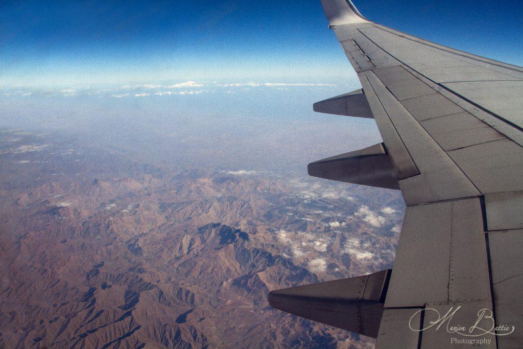 montagnes, photos, photos de voyage, photographie, voyages, avion, Oman, Moyen-Orient