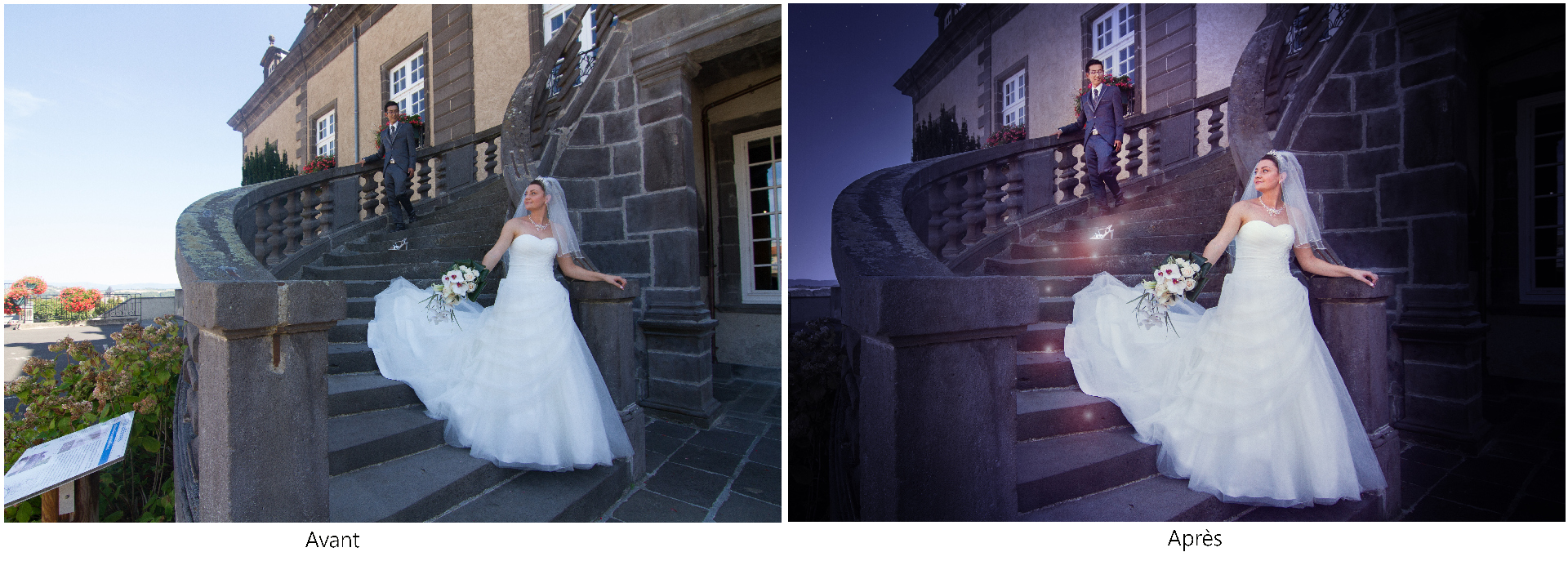 Mariage, séance couple, reportage de mariage, magie, Cendrillon, mariage à thème, Puy-de-Dôme, Pont-du-Chateau