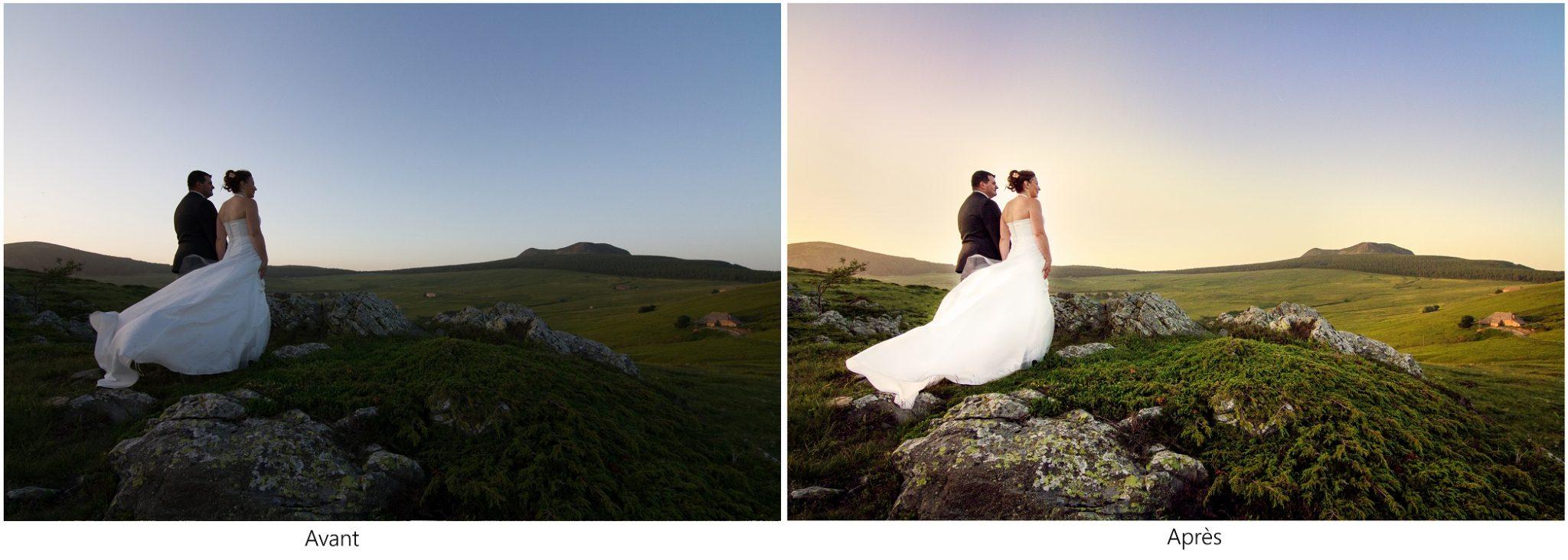 Mariage, Mariage Haute-Loire, Séance couple, nature, coucher de soleil, Grazac, Mont Mezenc, Les Estables