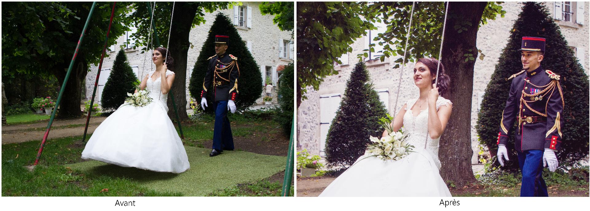 Mariage, Mariage Haute-Loire, Reportage de Mariage, couple, gendarme, séance couple, gendarme, chateau, domaine du Breuil de Doue, Brives-Charensac, Haute-Loire