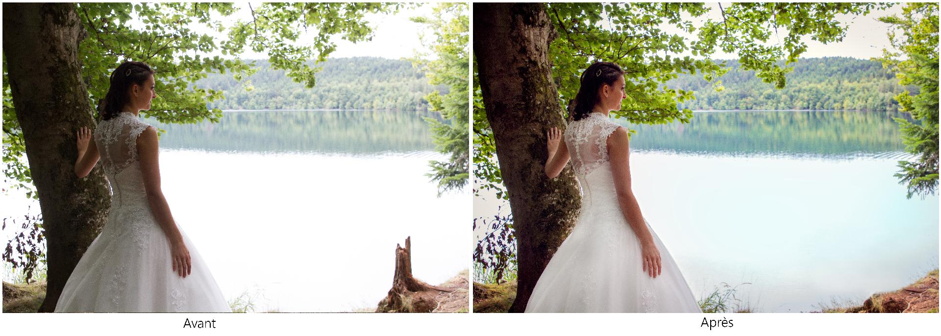 Séance couple, mariage, reportage de mariage, day after, mariée, Mariage Haute-Loire, lac, lac du Bouchet, Cayres, Haute-Loire, nature